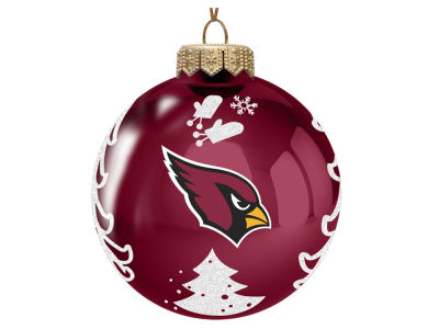 "Arizona Cardinals Memory Company 3"" Glass Christmas Tree Ornament"