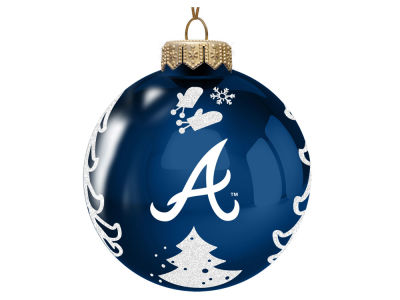 "Atlanta Braves 3"" Glass Christmas Tree Ornament"