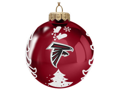 "Atlanta Falcons 3"" Glass Christmas Tree Ornament"