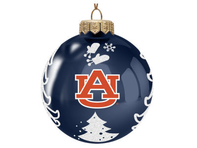 "Auburn Tigers 3"" Glass Christmas Tree Ornament"