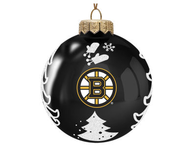 "Boston Bruins Memory Company 3"" Glass Christmas Tree Ornament"