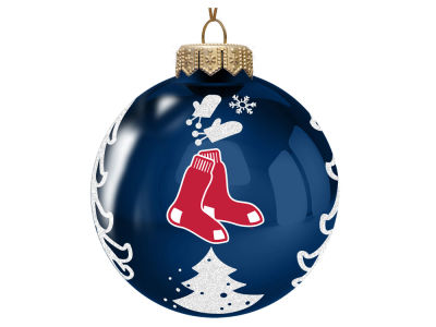 "Boston Red Sox 3"" Glass Christmas Tree Ornament"