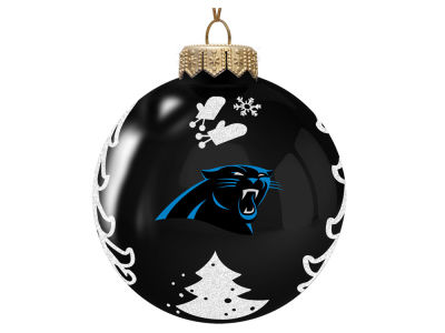 "Carolina Panthers Memory Company 3"" Glass Christmas Tree Ornament"