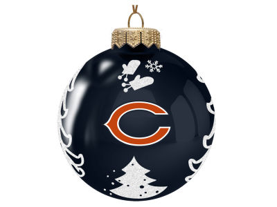 "Chicago Bears Memory Company 3"" Glass Christmas Tree Ornament"