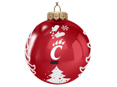 "Cincinnati Bearcats Memory Company 3"" Glass Christmas Tree Ornament"