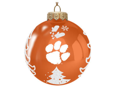"Clemson Tigers Memory Company 3"" Glass Christmas Tree Ornament"
