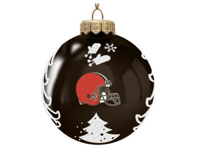 "Cleveland Browns Memory Company 3"" Glass Christmas Tree Ornament"