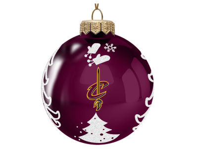 "Cleveland Cavaliers 3"" Glass Christmas Tree Ornament"