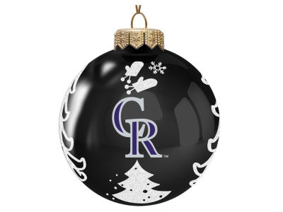 "Colorado Rockies 3"" Glass Christmas Tree Ornament"
