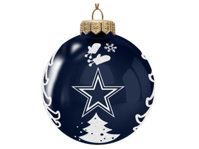 "Dallas Cowboys Memory Company 3"" Glass Christmas Tree Ornament"