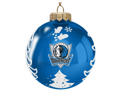 "Dallas Mavericks Memory Company 3"" Glass Christmas Tree Ornament"