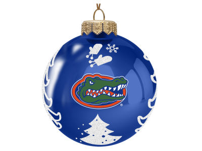 "Florida Gators 3"" Glass Christmas Tree Ornament"