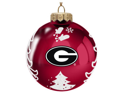 "Georgia Bulldogs Memory Company 3"" Glass Christmas Tree Ornament"