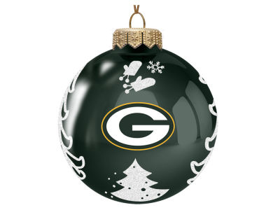 "Green Bay Packers 3"" Glass Christmas Tree Ornament"