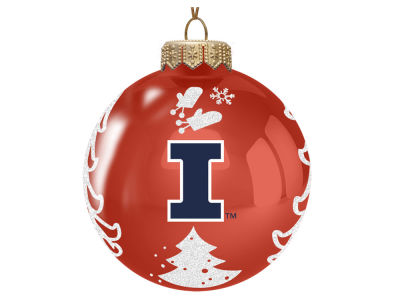 "Illinois Fighting Illini Memory Company 3"" Glass Christmas Tree Ornament"
