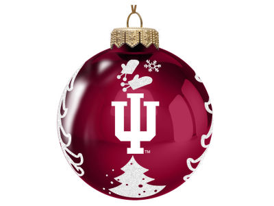"Indiana Hoosiers 3"" Glass Christmas Tree Ornament"