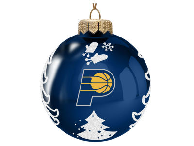 "Indiana Pacers Memory Company 3"" Glass Christmas Tree Ornament"