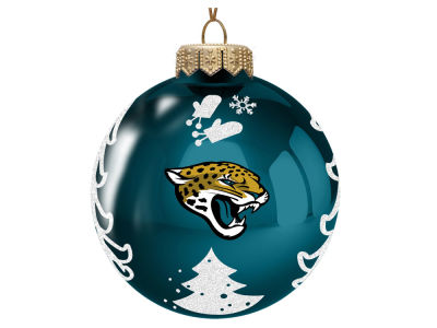 "Jacksonville Jaguars Memory Company 3"" Glass Christmas Tree Ornament"