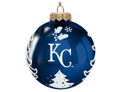 "Kansas City Royals Memory Company 3"" Glass Christmas Tree Ornament"