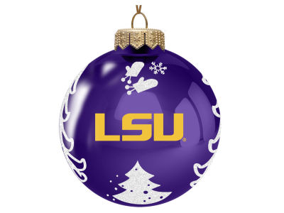 "LSU Tigers Memory Company 3"" Glass Christmas Tree Ornament"