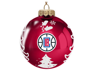 "Los Angeles Clippers 3"" Glass Christmas Tree Ornament"