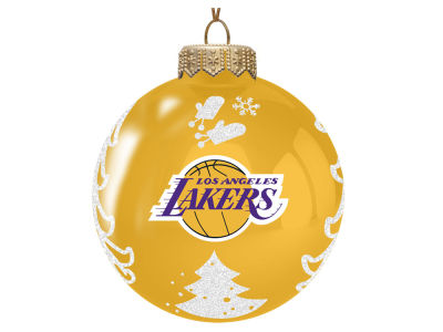 "Los Angeles Lakers Memory Company 3"" Glass Christmas Tree Ornament"