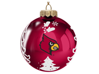 "Louisville Cardinals Memory Company 3"" Glass Christmas Tree Ornament"
