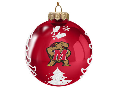 "Maryland Terrapins Memory Company 3"" Glass Christmas Tree Ornament"