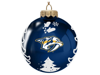 "Nashville Predators Memory Company 3"" Glass Christmas Tree Ornament"