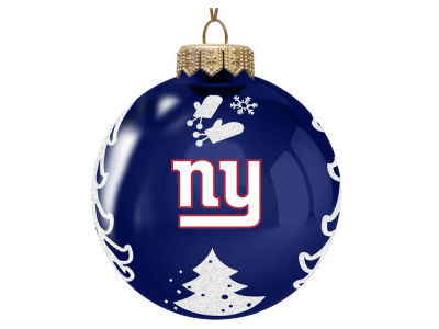 "New York Giants Memory Company 3"" Glass Christmas Tree Ornament"