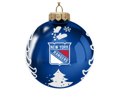 "New York Rangers Memory Company 3"" Glass Christmas Tree Ornament"