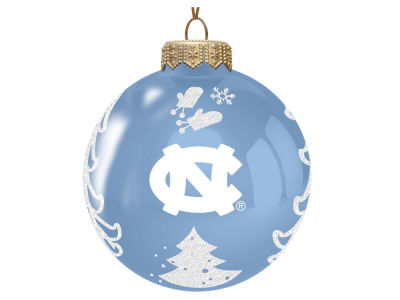 "North Carolina Tar Heels Memory Company 3"" Glass Christmas Tree Ornament"