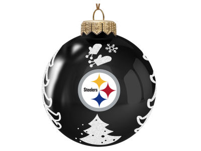 "Pittsburgh Steelers 3"" Glass Christmas Tree Ornament"