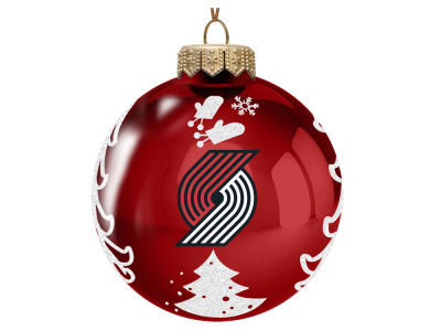 "Portland Trail Blazers Memory Company 3"" Glass Christmas Tree Ornament"
