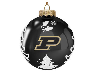 "Purdue Boilermakers Memory Company 3"" Glass Christmas Tree Ornament"
