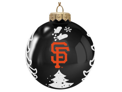"San Francisco Giants Memory Company 3"" Glass Christmas Tree Ornament"