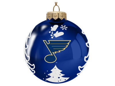 "St. Louis Blues Memory Company 3"" Glass Christmas Tree Ornament"