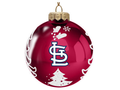 "St. Louis Cardinals Memory Company 3"" Glass Christmas Tree Ornament"