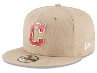 Cleveland Indians New Era MLB All Color Metal Logo 9FIFTY Snapback Cap