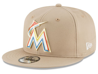 Miami Marlins New Era MLB All Color Metal Logo 9FIFTY Snapback Cap