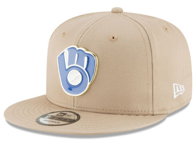 Milwaukee Brewers New Era MLB All Color Metal Logo 9FIFTY Snapback Cap