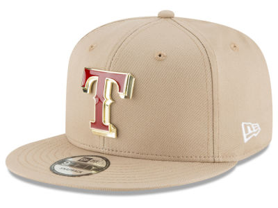 Texas Rangers New Era MLB All Color Metal Logo 9FIFTY Snapback Cap