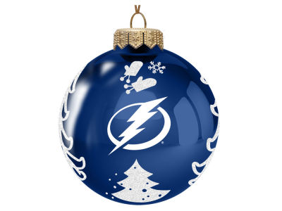"Tampa Bay Lightning Memory Company 3"" Glass Christmas Tree Ornament"