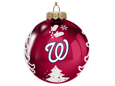 "Washington Nationals Memory Company 3"" Glass Christmas Tree Ornament"