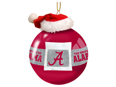 "Alabama Crimson Tide Memory Company 3"" Glass Santa Belt Ornament"
