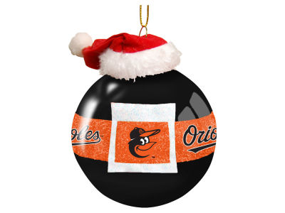 "Baltimore Orioles Memory Company 3"" Glass Santa Belt Ornament"