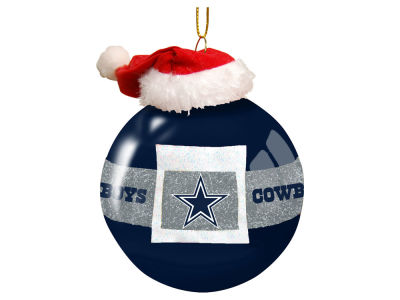 "Dallas Cowboys Memory Company 3"" Glass Santa Belt Ornament"