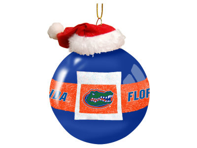 "Florida Gators Memory Company 3"" Glass Santa Belt Ornament"