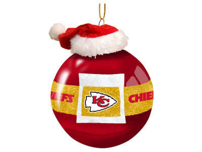 "Kansas City Chiefs 3"" Glass Santa Belt Ornament"