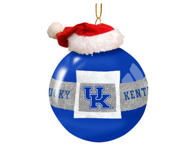 "Kentucky Wildcats Memory Company 3"" Glass Santa Belt Ornament"